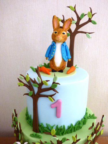2-tier-gruffalo-peter-rabbit-woodland-themed-birthday-cake