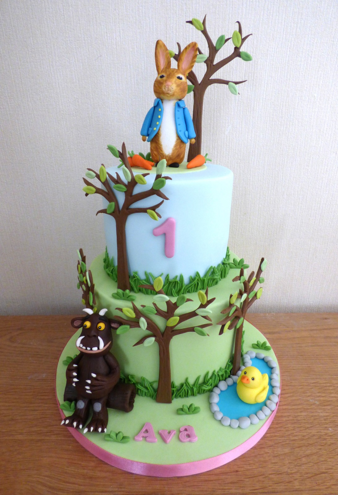 Super 2 Tier Gruffalo And Peter Rabbit Birthday Cake Susies Cakes Personalised Birthday Cards Epsylily Jamesorg