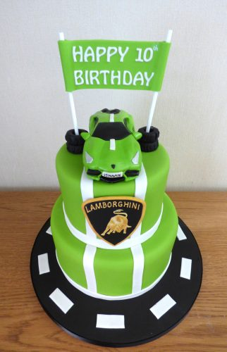 2-tier-lambourghini-kids-birthday-cake