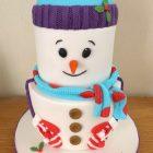 2-tier-snowman-christmas-cake