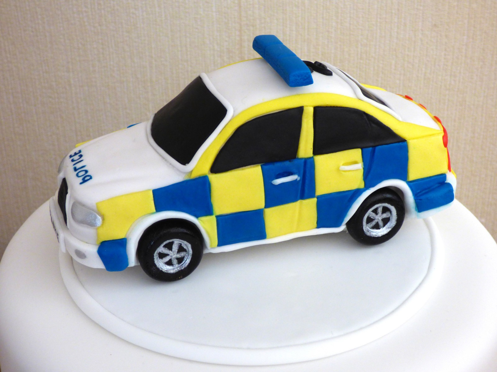 Excellent Childrens Police Car Birthday Cake Susies Cakes Funny Birthday Cards Online Alyptdamsfinfo