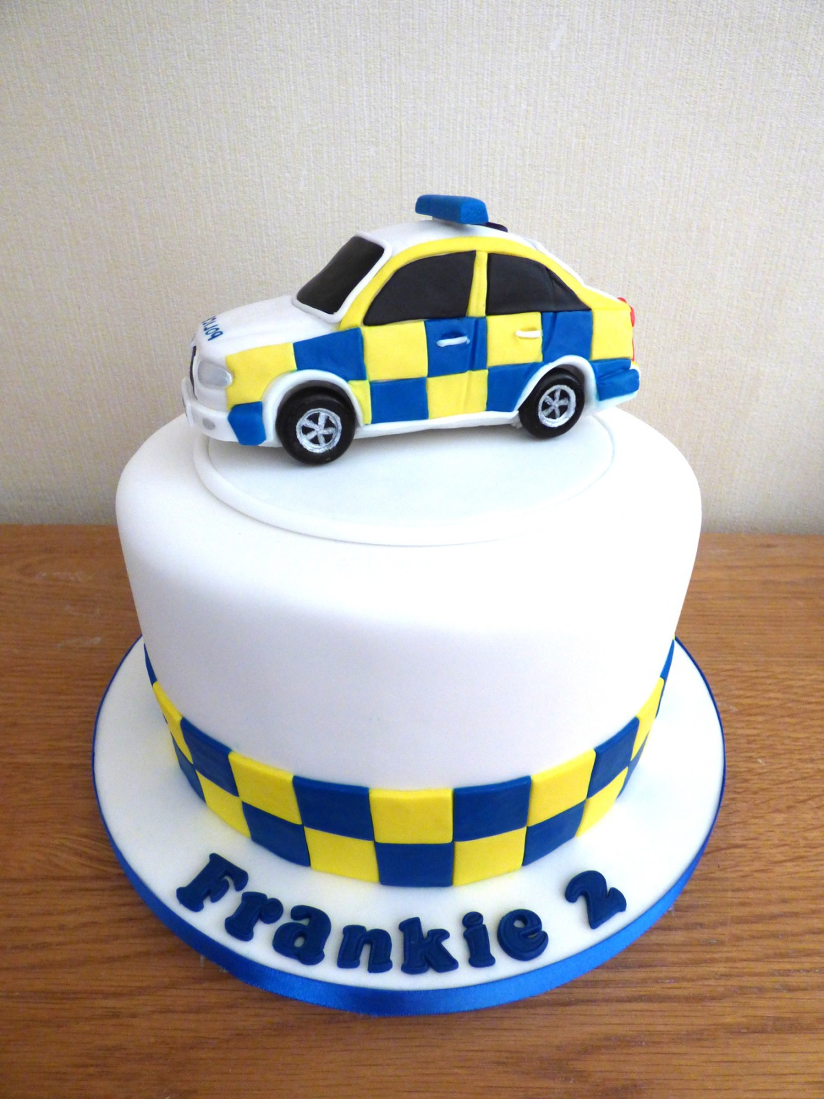 Marvelous Childrens Police Car Birthday Cake Susies Cakes Funny Birthday Cards Online Alyptdamsfinfo