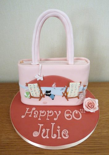 designer-radley-handbagbeach-themed-birthday-cake