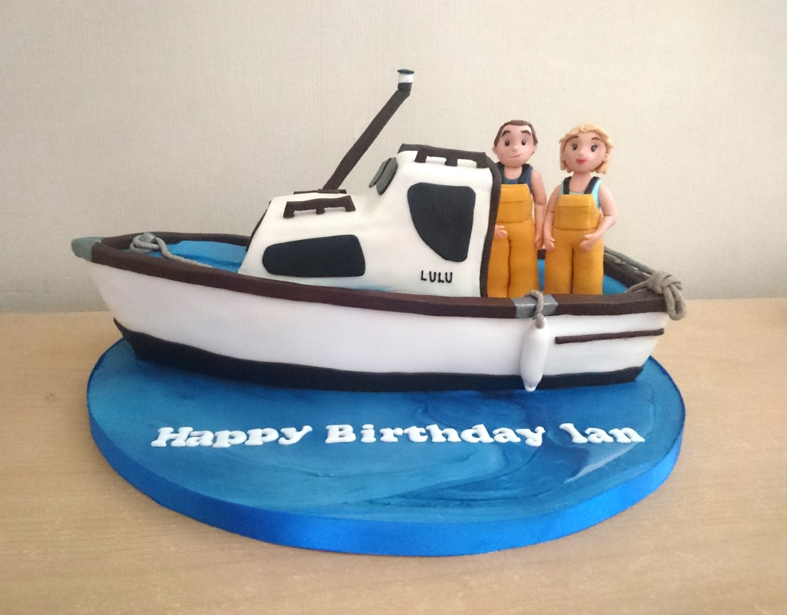 Stupendous Fishing Boat Themed Birthday Cake Susies Cakes Funny Birthday Cards Online Elaedamsfinfo
