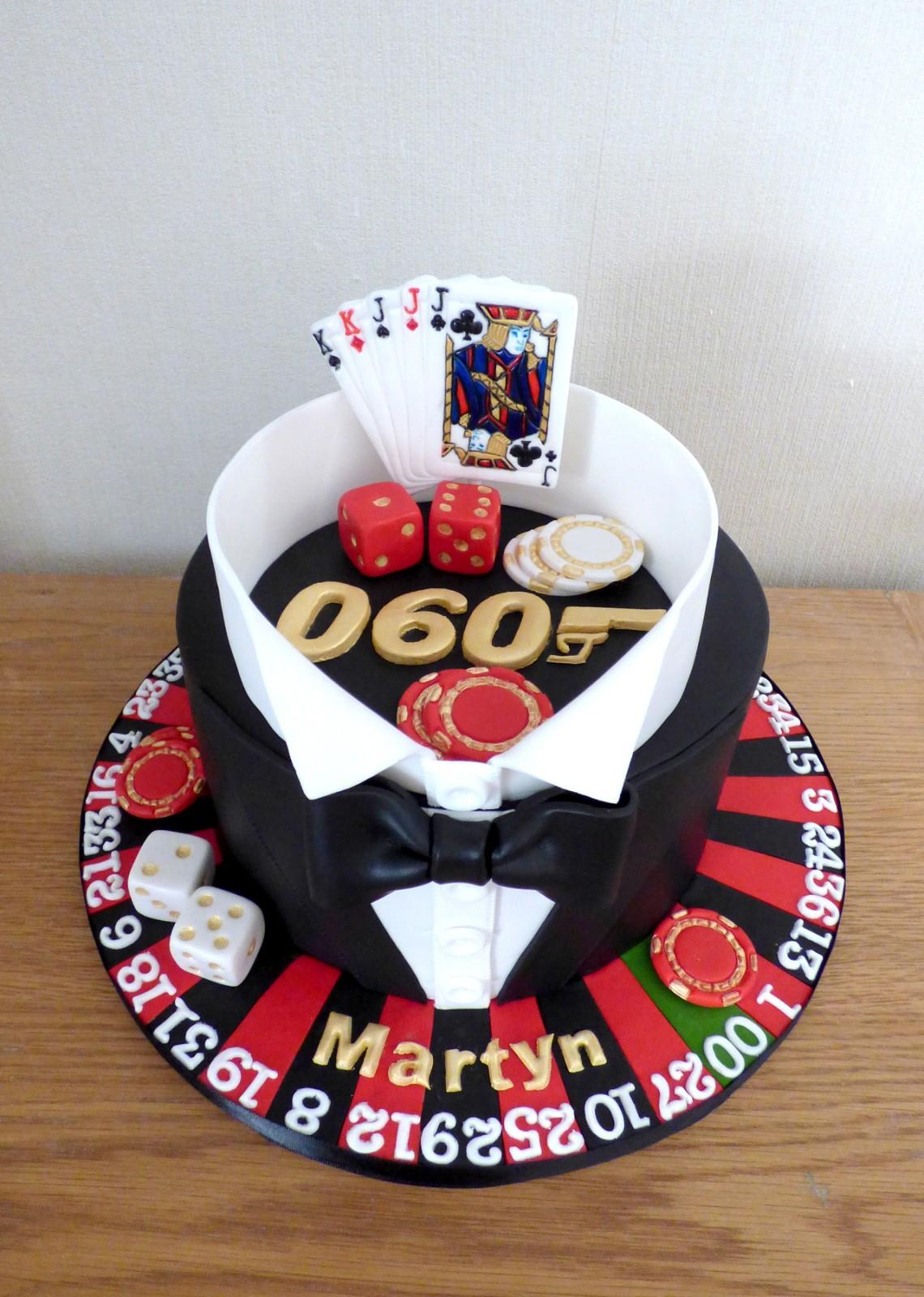 Super James Bond Casino Royale Themed Birthday Cake Susies Cakes Personalised Birthday Cards Arneslily Jamesorg